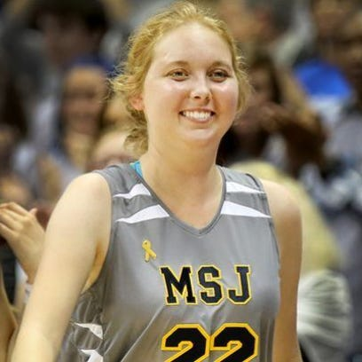 Lauren Hill scored her first collegiate basket last