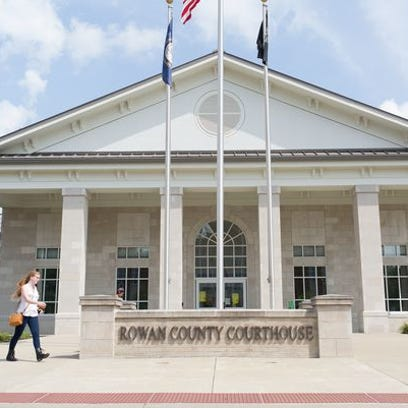 The Rowan County Rights Coalition held a rally outside