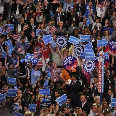 The Democratic National Convention in 2012.