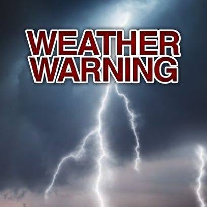 Severe weather warnings issued for the area