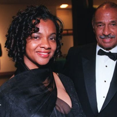Monica Conyers and John Conyers in a Free Press file