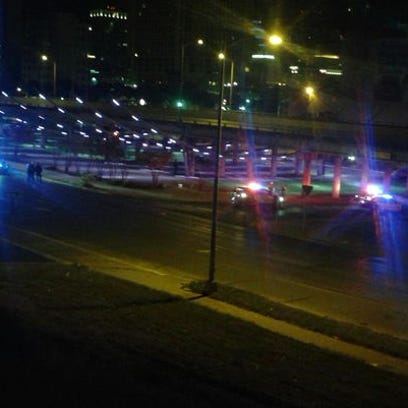 Police units on scene as a shooter targets downtown