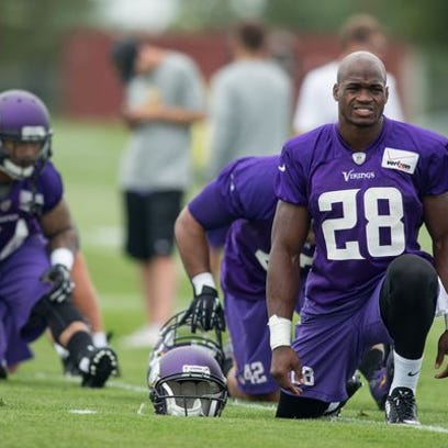 """""""I won't ever use a switch again,"""" Adrian Peterson"""