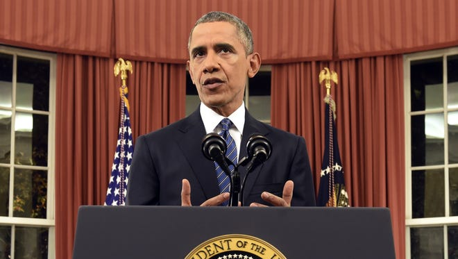 President Barack Obama, shown here in late 2015, announced his U.S. Supreme Court appointee Tuesday./