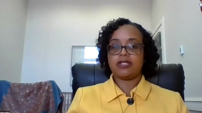 University of New Hampshire Chief Diversity Officer Nadine Petty discusses diversity, equity and inclusion initiatives during a recent virtual town hall with UNH faculty.