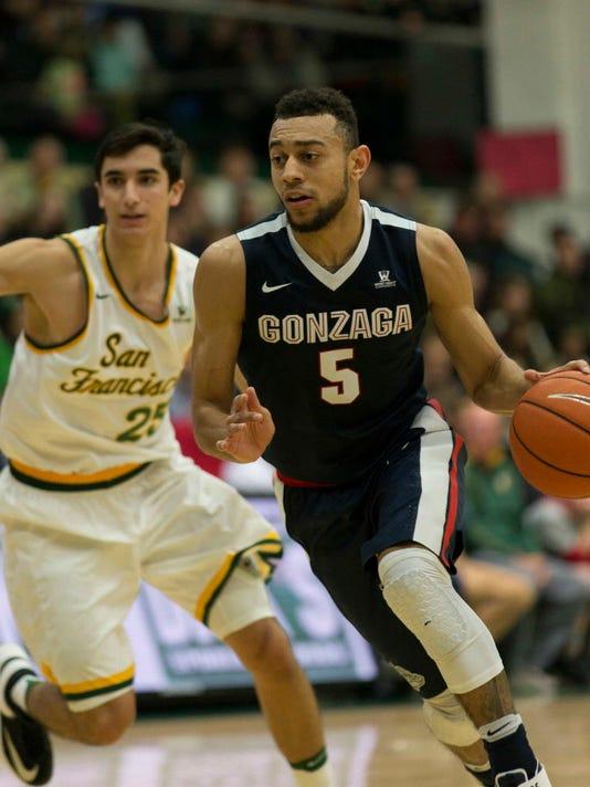 USP NCAA BASKETBALL: GONZAGA AT SAN FRANCISCO S BKC USA CA