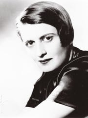 "Ayn Rand, co-author of ""The Virtue of Selfishness"""