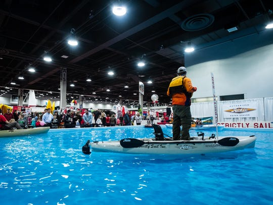 Cincinnati Travel, Sports and Boat Show at the Duke Energy Convention Center.