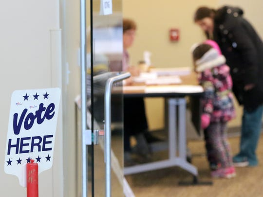 There was a steady small stream of voters arriving at the St. Francis Community Center for a special election on March 13.