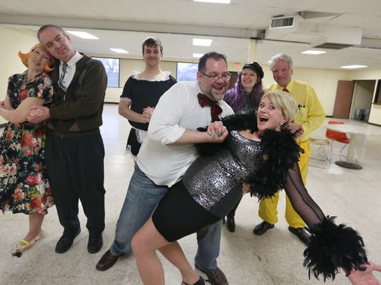 In this file photo, the 2016 Heart-a-Rama cast poses for a portrait at a rehearsal session. Pictured from back left: Laurie Maggae, Jim Pautz, James Gordon, Emily Knier and Fred Schnell; front: Brad Zimmermann and Ellan Schmeidu.