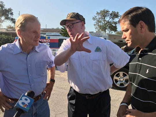 U.S. Sen. Bill Nelson, D-Fla., left, and U.S. Sen.