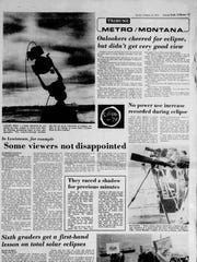 The Feb. 27, 1979 Montana section was completely devoted to the solar eclipse.