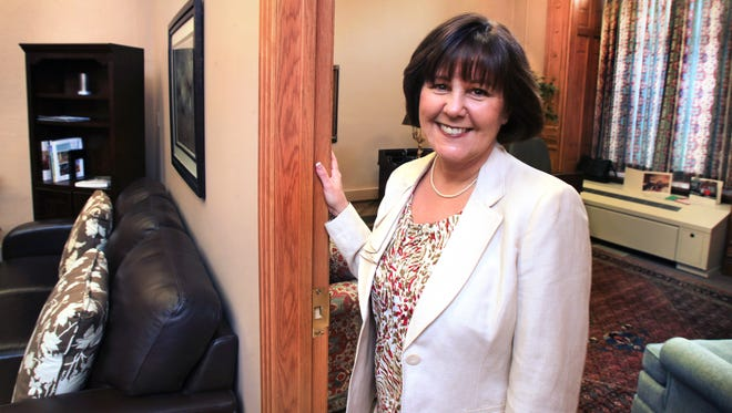 Indiana first lady Karen Pence (shown in her office) hosted her First Lady's Luncheon Thursday. At the fundraiser for her foundation, $65,000 was awarded to Feeding Indiana's Hungry.