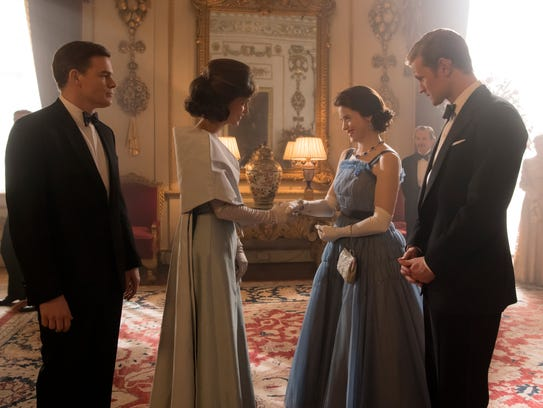 The Kennedys (Michael C. Hall and Jodie Balfour) meet