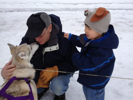 You can meet and greet sled dogs during Ganondagan