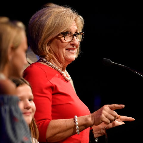 U.S. Rep. Diane Black speaks to supporters at her...