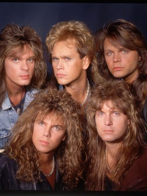 Because nothing tells the news quite like an 80s hair band.