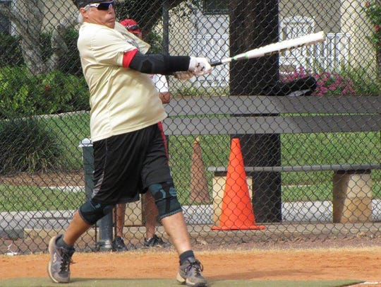 Salty Dog manager Tom Loiacono launches a triple for