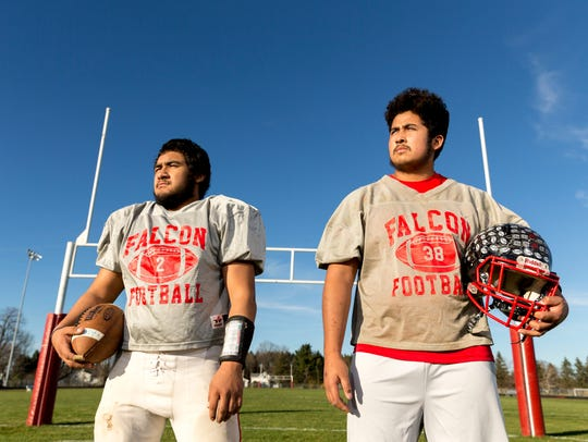 Abbotsford seniors Ramon Aguilera, left, and Izzy Garcia