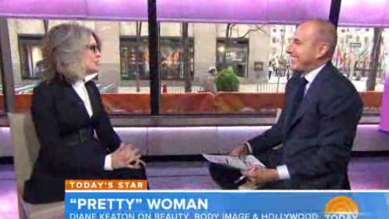 Diane Keaton makes Matt Lauer blush and laugh on Tuesday's 'Today' show.