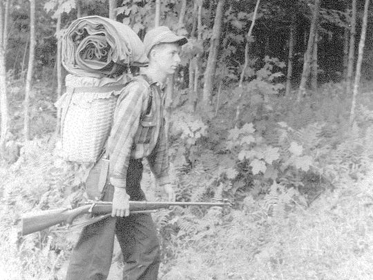 Edward A. Keenan Jr. hunting for bear in Moretown in