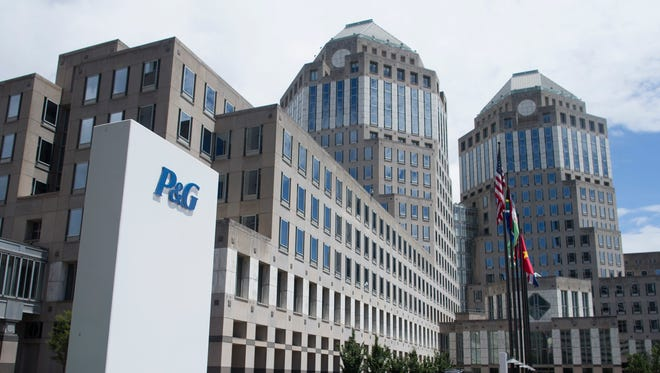 The Proctor & Gamble headquarters complex is seen in downtown Cincinnati.