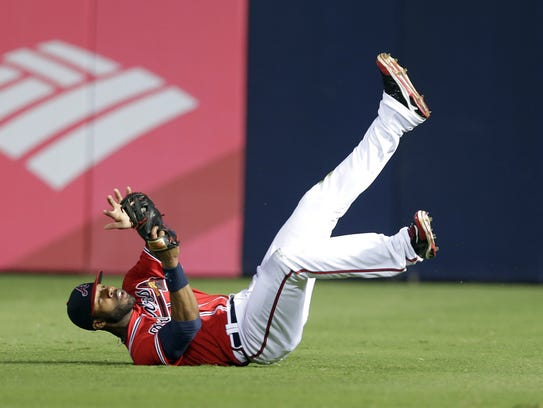 Jason Heyward will now be making diving catches for