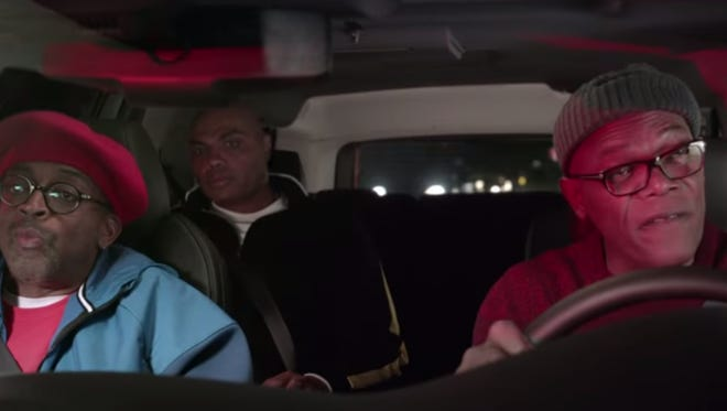 Samuel L. Jackson, Spike Lee and Charles Barkley star in a Louisville-themed March Madness commercial.