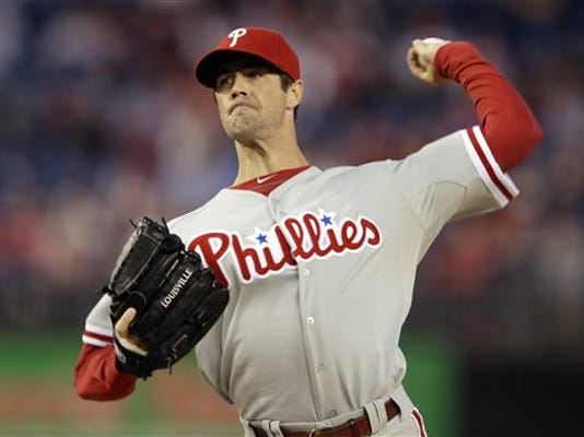 Philadelphia pitcher Cole Hamels has struggled mightily in his recent outings.