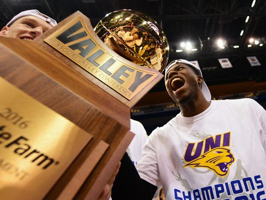 NCAA Basketball: Missouri Valley Conference Tournament-Evansville Aces vs Northern Iowa Panthers