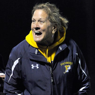 Pocomoke head field hockey coach Susan Pusey