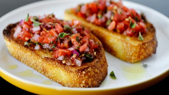 Tomato bruschetta. Photo by Chris Dunn.