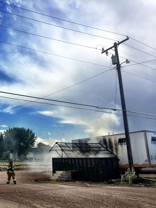 1 FAL 0718 dumpster fire