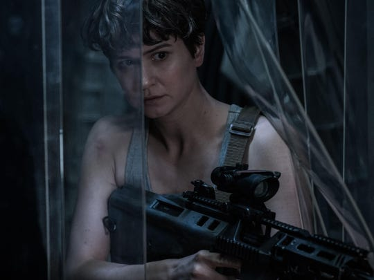 "Katherine Waterston as Daniels in ""Alien: Covenant."""