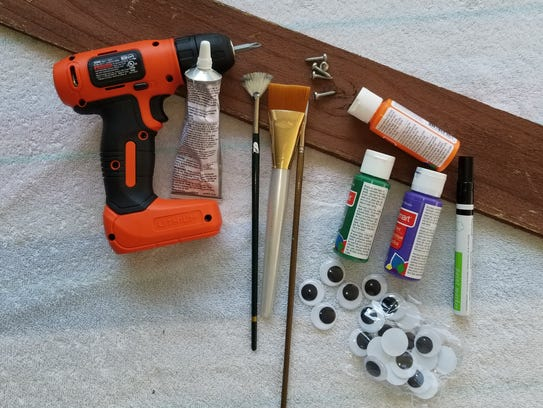 Materials needed for monster picket fence: Scrap lumber,