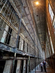 "Visitors tour the cell blocks of the Ohio State Reformatory during self-guided tours of the prison used for filming ""The Shawshank Redemption."""
