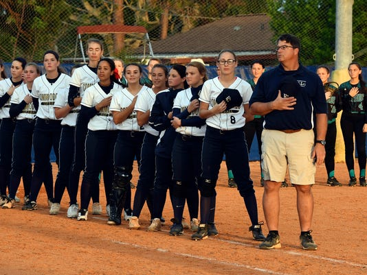High School Softball: Bayside at Eau Gallie