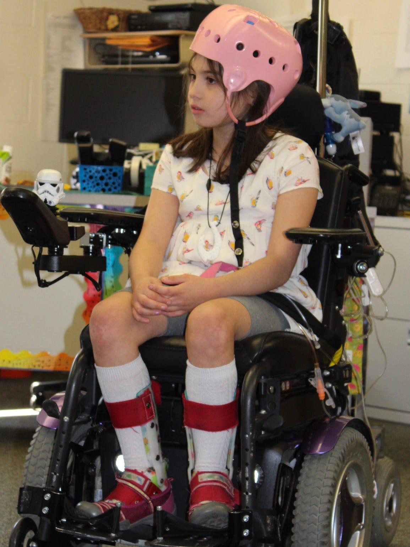 Julianna Shubert, 7, sits in class at Scotland Elementary