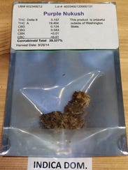 A packet of marijuana offered for sale in Seattle in