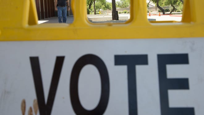 The Arizona Secretary of State's Office says 3.2 million people are registered to vote.