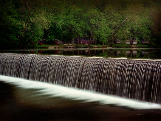 The Lindenlure dam has been a popular swimming hole and cooling off spot on the Finley River for decades.