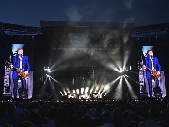 Paul McCartney performs in concert at MetLife Stadium on August 7, 2016 in East Rutherford, New Jersey.