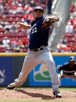 Matt Garza allowed only three hits and one run over seven-plus innings Wednesday to lead the Brewers to a 3-1 victory over St. Louis, putting an end to the team's six-game losing streak.