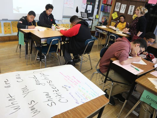 The Saturday Academy Program at School 18 in Paterson, part of an enrichment program to give Paterson school students extra classroom time on Saturday.