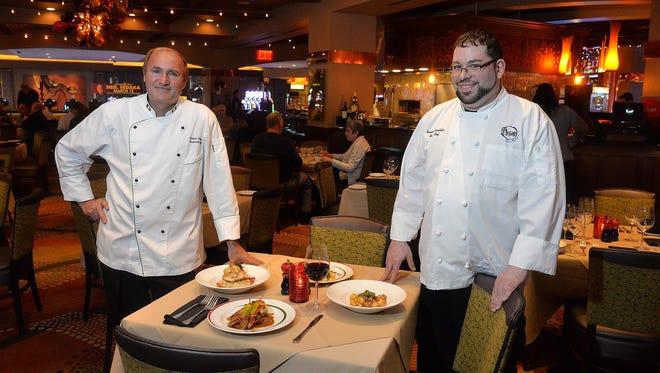 Grotto Executive Chef Carmine Favuzzi (left) and Sous Chef Dennis Caraballo at Golden Nugget Atlantic City.