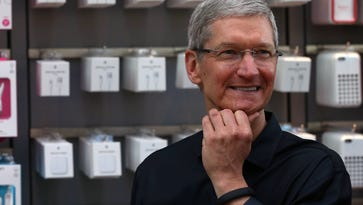 Tim Cook, CEO of the U.S. tech giant that is No. 1 on the list.