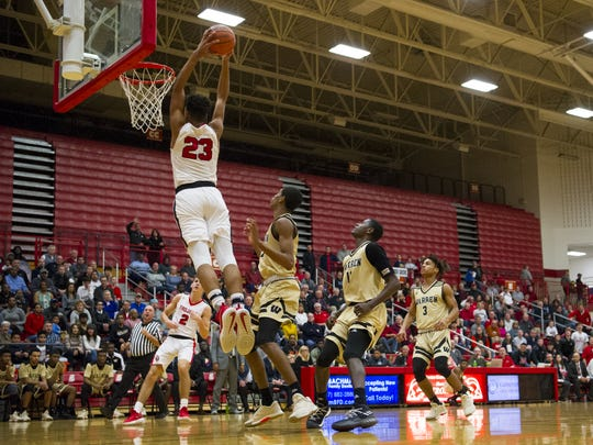 Center Grove junior Trayce Jackson-Davis (23) has gotten
