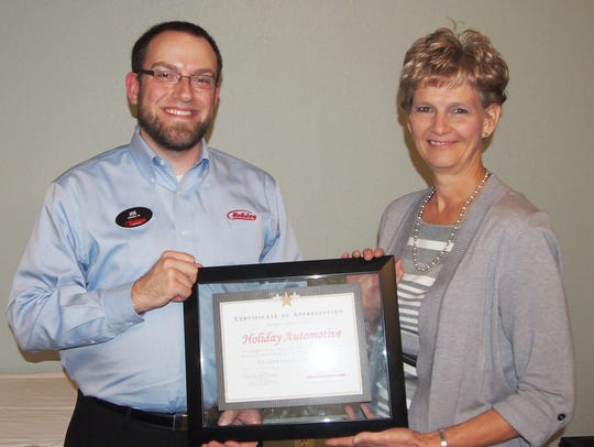 Joe Truesdale, Holiday Automotive, received special