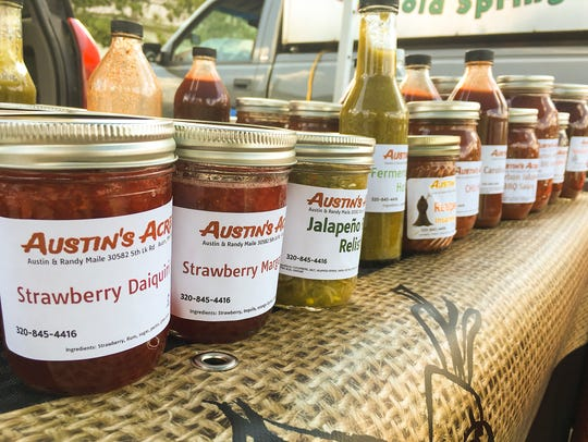A variety of products made by Austin Maile, 16, of