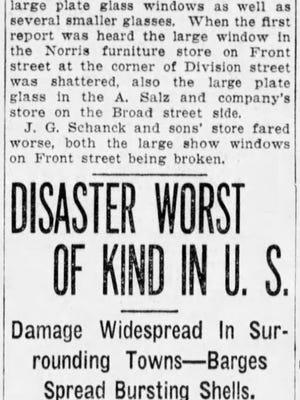 A clipping from the front page of the Asbury Park Press on July 31, 1916.